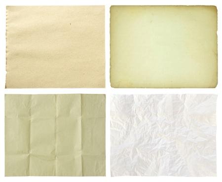 set van papier op een witte achtergrond