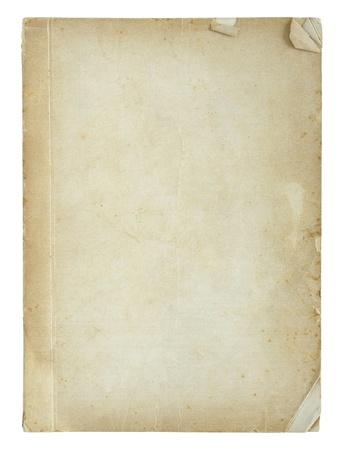 oude boek pagina's op wit wordt geïsoleerd