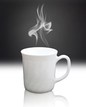 white cup Stock Photo - 11108095