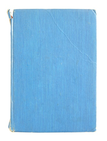 old blue book pages isolated on a white background photo