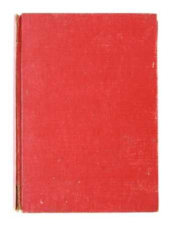 old book cover: Old red cover book isolated over white with clipping path