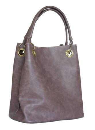 Women leather bag isolated on white background photo
