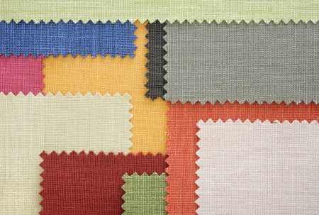 Multi color fabric texture samples photo