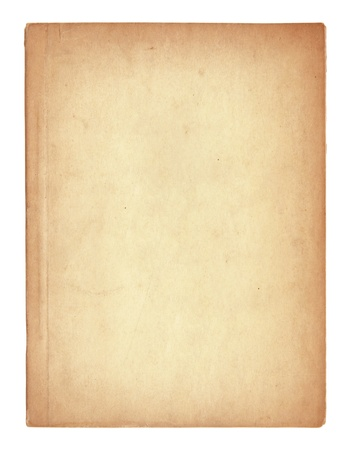 tattered: old book pages isolated on white