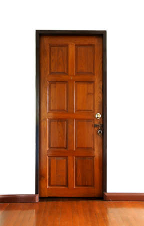 Wooden doors locked photo