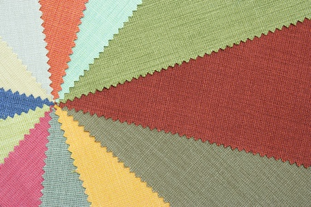 tela algodon: Múltiples muestras de tela de color textura Foto de archivo