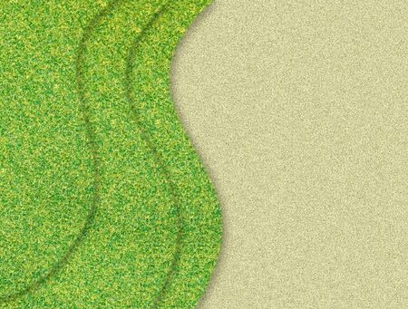 green grass curve on sand background photo