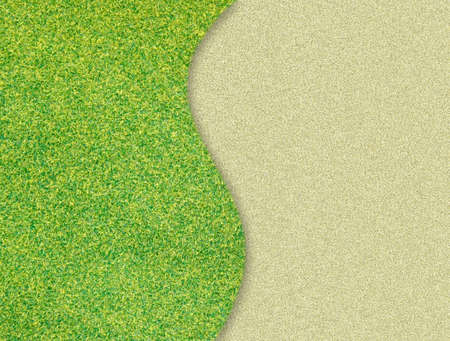green grass curve on sand background Stock Photo - 12600157