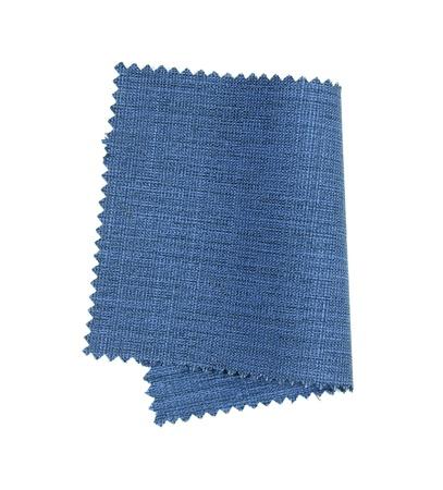 blue fabric sample isolated on white background photo