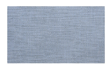 Blue fabric sample isolated on white background photo