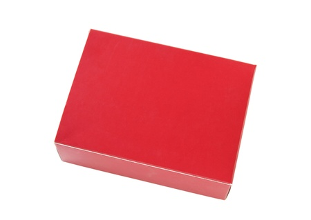 red package box isolated on white  photo