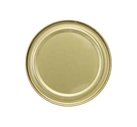canned goods: canned food isolated on white background with clipping path Stock Photo
