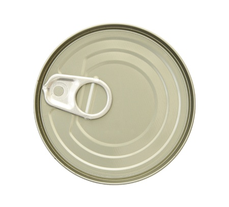 canned food isolated on white background with clipping path photo