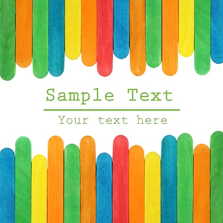 colorful wood ice-cream stick Background Stock Photo