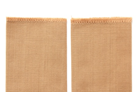 brown cotton isolated on white background photo