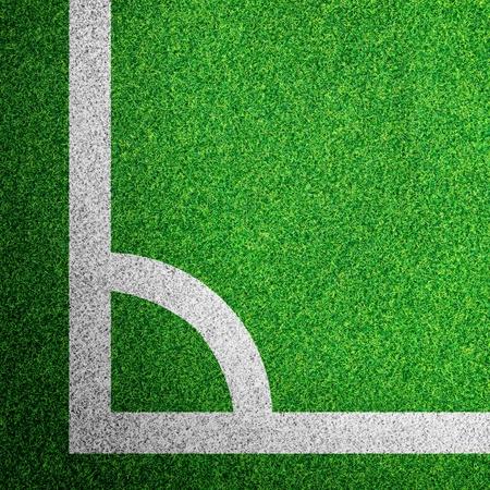 Hoek van een voetbalveld
