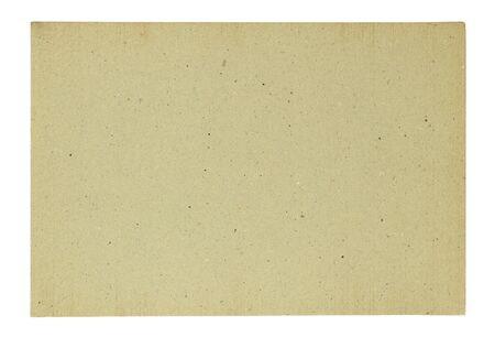 sandpaper: Blank recycle paper isolated Stock Photo