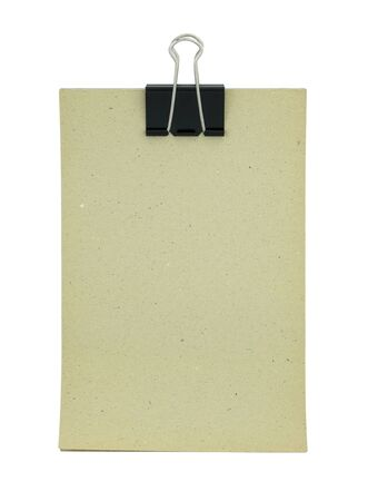 Blank paper clipboard isolated on white Stock Photo - 13710982