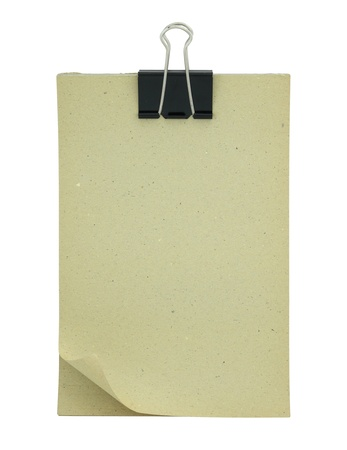 Blank paper clipboard isolated on white photo