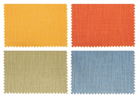 set of fabric swatch samples texture Stock Photo