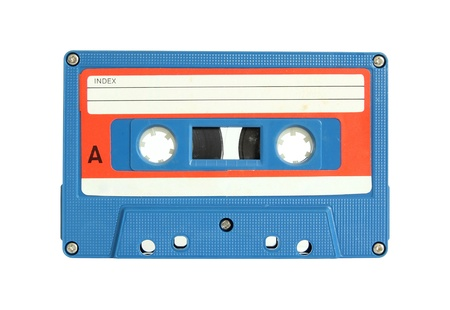 cassette tape isolated on white photo
