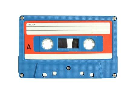 audio cassette: cassette tape isolated on white