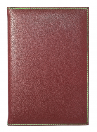 ring binder: Red leather notebook isolated on white with clipping path