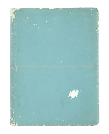 old book cover isolated on a white background photo