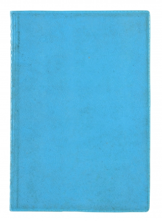old blue book cover isolated on a white photo