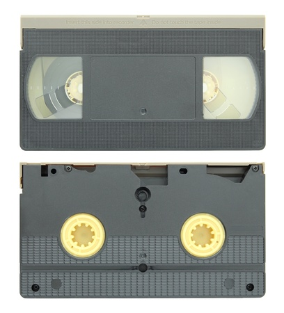 video tape cassette isolated on white photo
