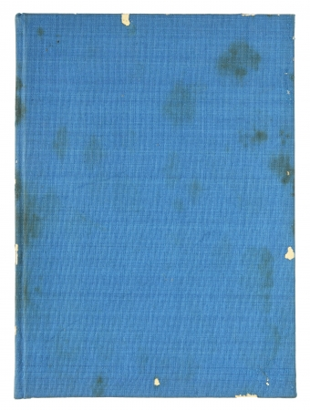 rifts: old blue book pages isolated on a white background