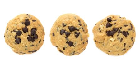 Set of Chocolate chips cookies isolated on white Stock Photo - 15947842