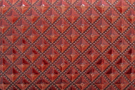 Red leather texture for background photo