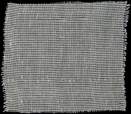 white fabric woven isolated on black background photo