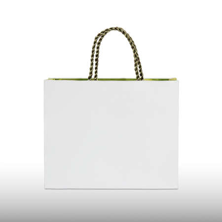 white paper bag isolated on white background Stock Photo - 17702230