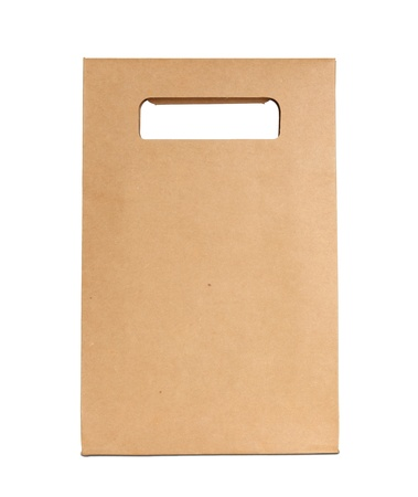 Brown paper bag isolated on white with clipping path
