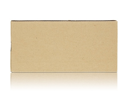 gift packs: Blank cardboard box isolated on white background Stock Photo