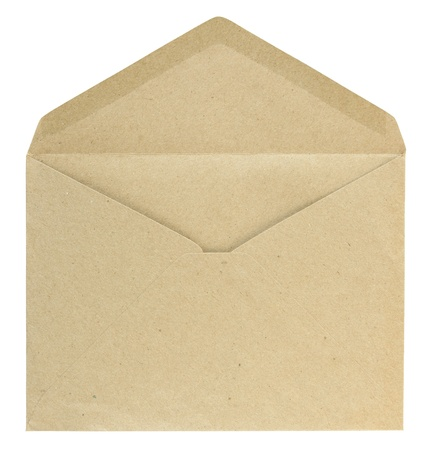 vintage envelope: Blank envelope isolated on white background with clipping path