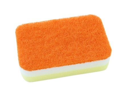 household sponge isolated on a white background photo