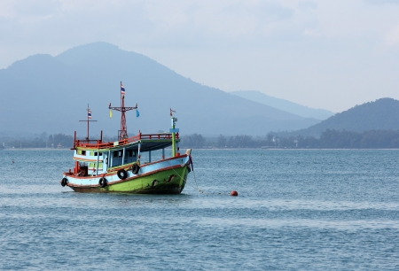 Fishing boat in sea thailand photo