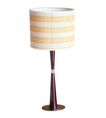 table lamp isolated on white background with clipping path photo