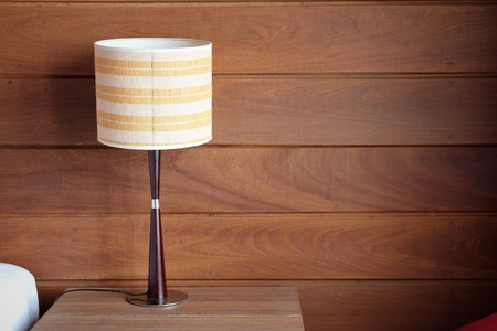 table lamp on bedroom Stock Photo - 18818019