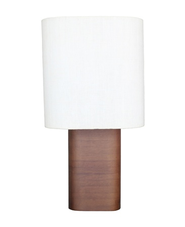 white table lamp isolated on white background photo