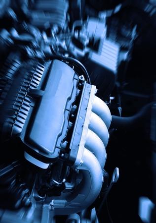 car in garage: car engine