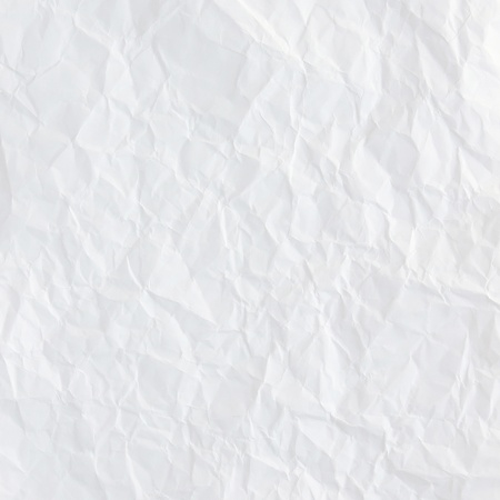 white crumpled paper texture for background photo