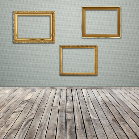 interior room with empty picture frame photo