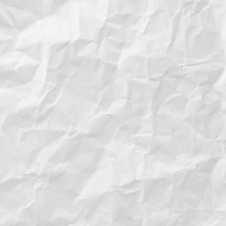 creasy: white crumpled paper texture for background Stock Photo