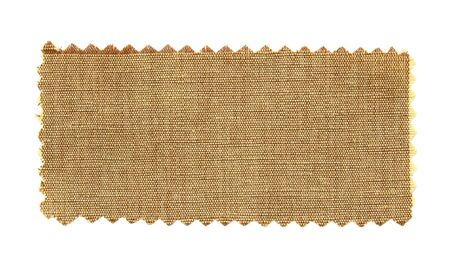 brown fabric swatch samples isolated on white background photo