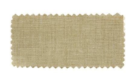 tela algodon: muestrario de telas naturales aislados sobre fondo blanco