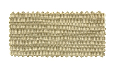 craft materials: natural fabric swatch samples isolated on white background